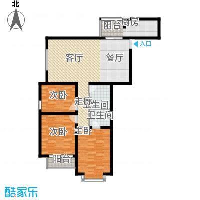 中水金海嘉苑136.37㎡C户型3室2厅2卫1厨