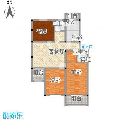 扬州水乡别墅户型图精英阳光版平层 3室2厅2卫1厨
