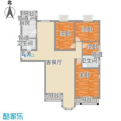 珠江罗马嘉园四期174平南北通透三居半户型3室2厅2卫1厨