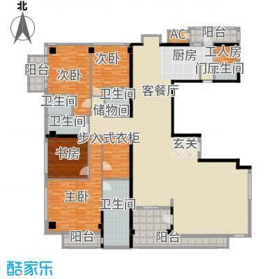 财满街财经中心2号楼标准层户型5室4厅5卫2厨