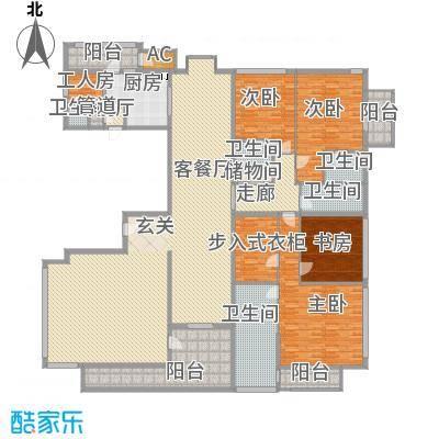 财满街财经中心7号楼标准层户型5室3厅4卫2厨