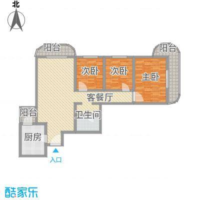 亚运豪庭136.89㎡户型3室2厅1卫1厨