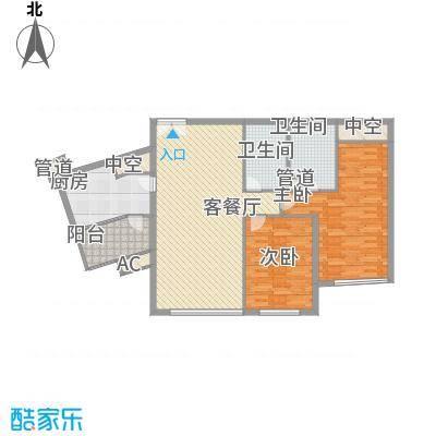 新城国际公寓四期137.00㎡新城国际公寓四期137.00㎡2室户型2室