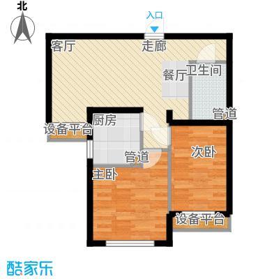 高杨树南里57.00㎡高杨树南里57.00㎡2室户型2室