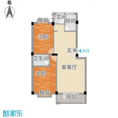 金泽洮水明珠104.06㎡D户型2室2厅1卫1厨