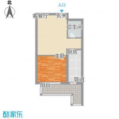 白领家园67.33㎡G2户型1室1厅1卫1厨