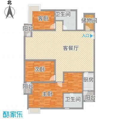 fesco国际公寓户型3室2厅2卫1厨