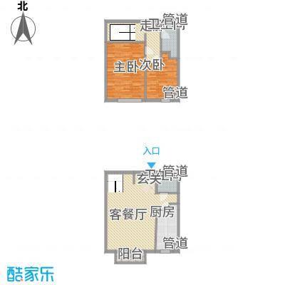 观筑庭园公寓110.00㎡观筑庭园公寓110.00㎡2室户型2室