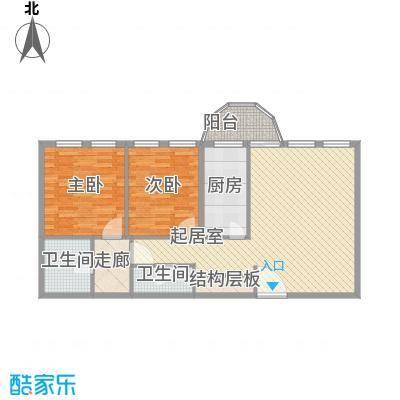 阳光广场二居室户型2室1厅2卫1厨