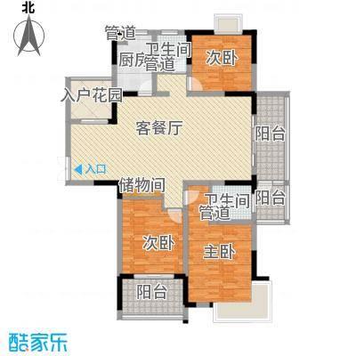 江雁依山郡146.00㎡二期16-19号楼标准层C2户型3室2厅2卫1厨