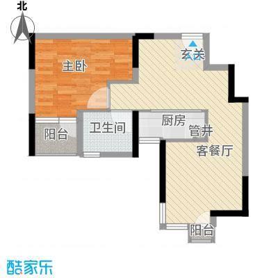 长安西街1号70.00㎡长安西街1号70.00㎡1室2厅1卫户型1室2厅1卫