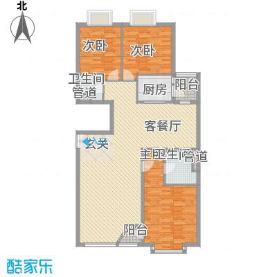 外企国际公寓165.31㎡B户型3室2厅2卫1厨