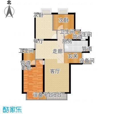 新华联丽景128.32㎡D反户型3室2厅2卫1厨