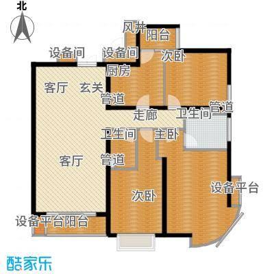 新华联丽景146.60㎡K户型3室2厅2卫1厨