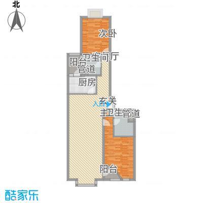 外企国际公寓127.11㎡C户型2室2厅2卫1厨