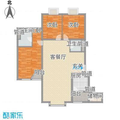 外企国际公寓165.20㎡F户型3室2厅2卫1厨