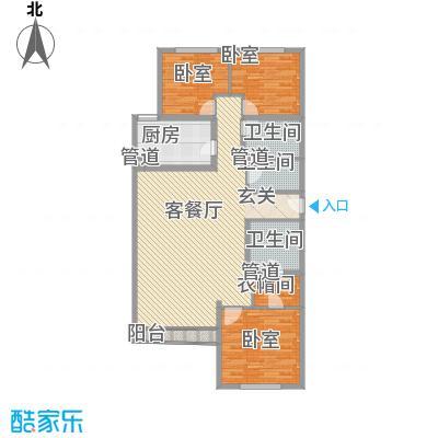 富成花园公寓161.67㎡富成花园公寓161.67㎡3室2厅2卫1厨户型3室2厅2卫1厨