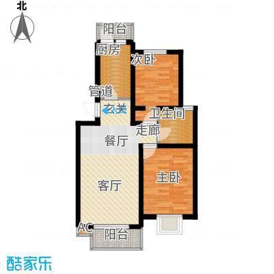 定福庄西里65.00㎡定福庄西里65.00㎡2室户型2室