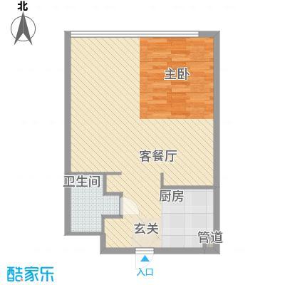 朝阳门公寓户型1室1厅1卫1厨