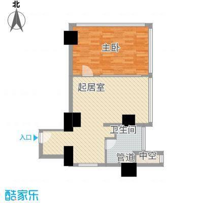 北京高尔夫公寓户型1室2厅1卫1厨