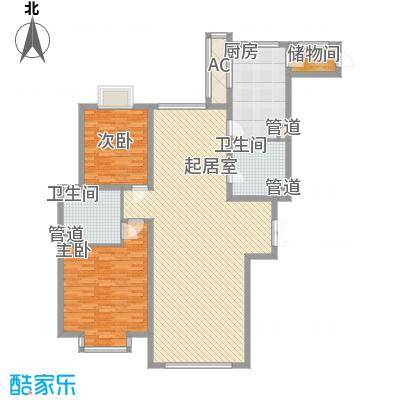 地汇华商国际公寓170.00㎡地汇华商国际公寓170.00㎡2室户型2室