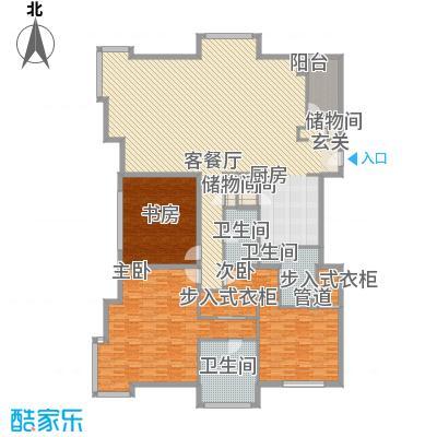 白金公寓288.00㎡3居户型3室2厅3卫1厨