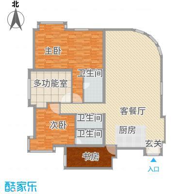 白金公寓245.00㎡3居户型3室2厅3卫1厨