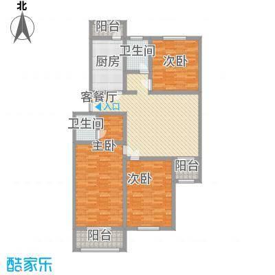 扬州水乡别墅户型图阳光三居 3室2厅1卫1厨