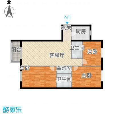 碧水星阁147.03㎡D户型3室2厅2卫1厨