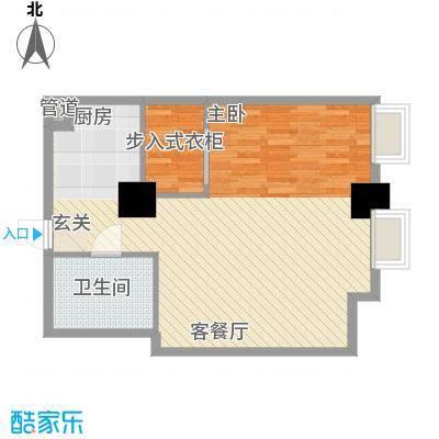 博雅国际中心78.13㎡B3户型1室1厅1卫1厨