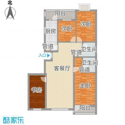 欧堡153.67㎡贵族四居户型4室2厅2卫1厨