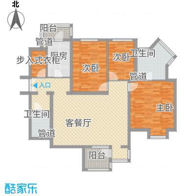 万科水榭花都151.90㎡万科水榭花都151.90㎡3室2厅2卫1厨户型3室2厅2卫1厨