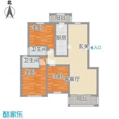 燕归宁馨园户型3室2厅2卫1厨