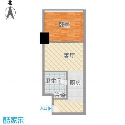 新街口苏宁生活广场70.00㎡标准层户型D户型1室1厅1卫1厨