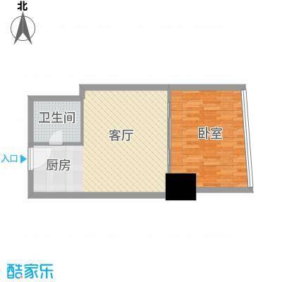 新街口苏宁生活广场62.00㎡标准层户型C户型1室1厅1卫1厨