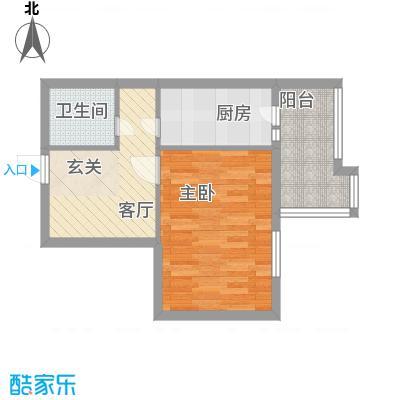 甘露园小区53.25㎡Q户型1室1厅1卫1厨