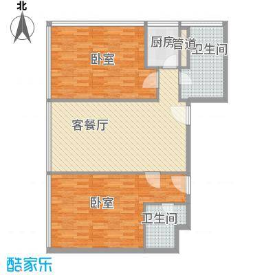 新街口苏宁生活广场133.00㎡标准层户型L户型2室2厅1卫1厨