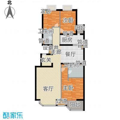 山水LAVIE155.00㎡34#A户型3室2厅2卫1厨