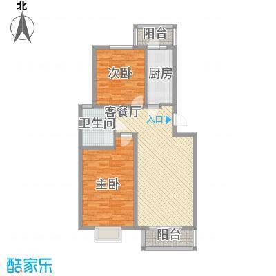 水榭华庭96.36㎡水榭华庭户型图户型图2室2室2厅1卫户型2室2厅1卫