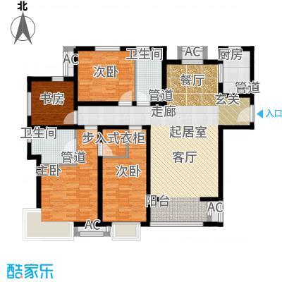 中建国际港158.00㎡F户型4室4厅2卫
