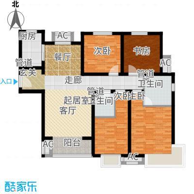 中建国际港142.00㎡J户型4室2厅2卫