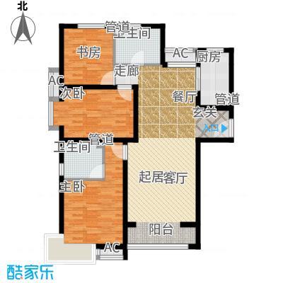 中建国际港122.00㎡K户型3室2厅2卫