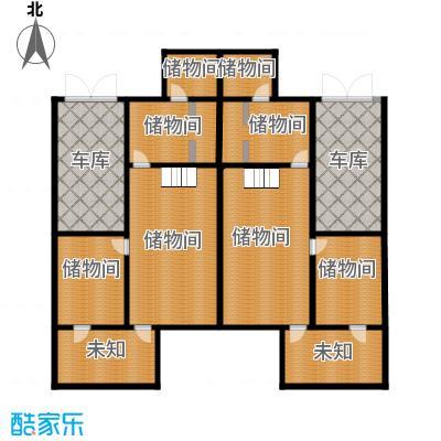 恒盛·藝墅229.11㎡叠拼地下层平面图户型