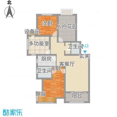 北京城建・红木林108.00㎡C3户型2室2厅2卫1厨