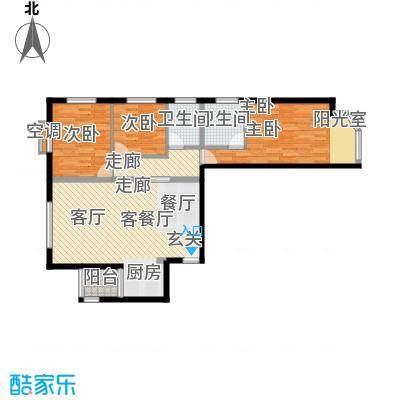 宏盛家园西区117.12㎡F户型3室2厅2卫1厨