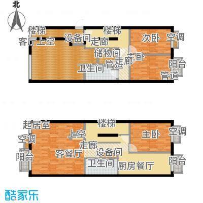 宏盛家园西区153.92㎡B户型3室2厅2卫1厨