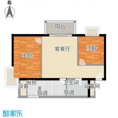 丽都东镇滨河1号别墅90.00㎡户型2室1厅1卫1厨