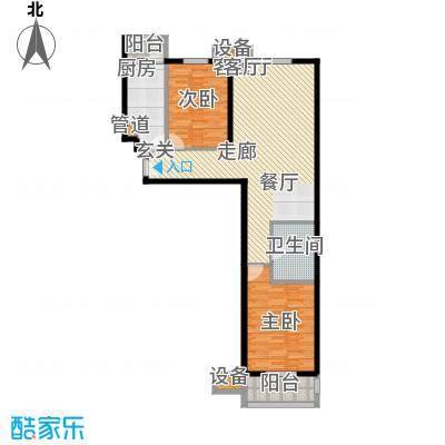 宏大南园104.99㎡III组团B1反户型2室2厅1卫1厨