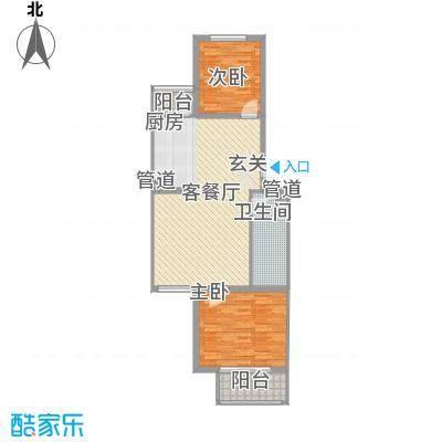 月桂庄园别墅92.51㎡公寓F4户型2室2厅1卫1厨