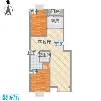 丽港美度19号楼A3'反户型2室2厅2卫1厨